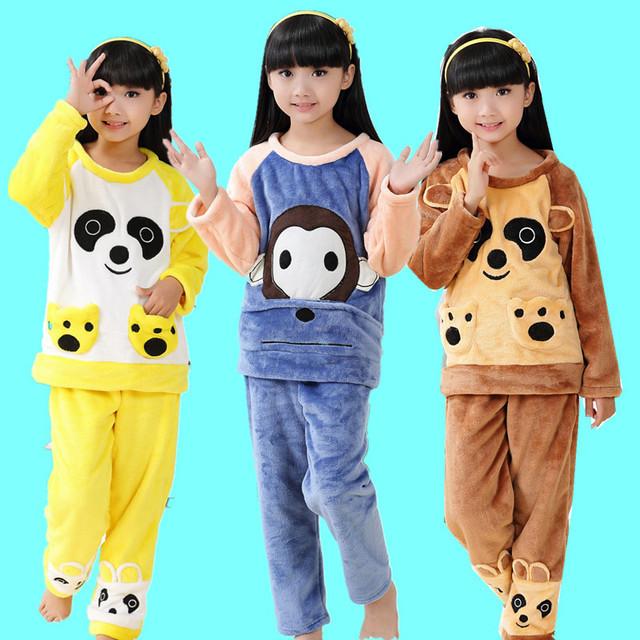 V-tree otoño invierno niños minion pijamas de franela pijamas del bebé niños niñas niños calientes robes albornoz de los niños para los niños