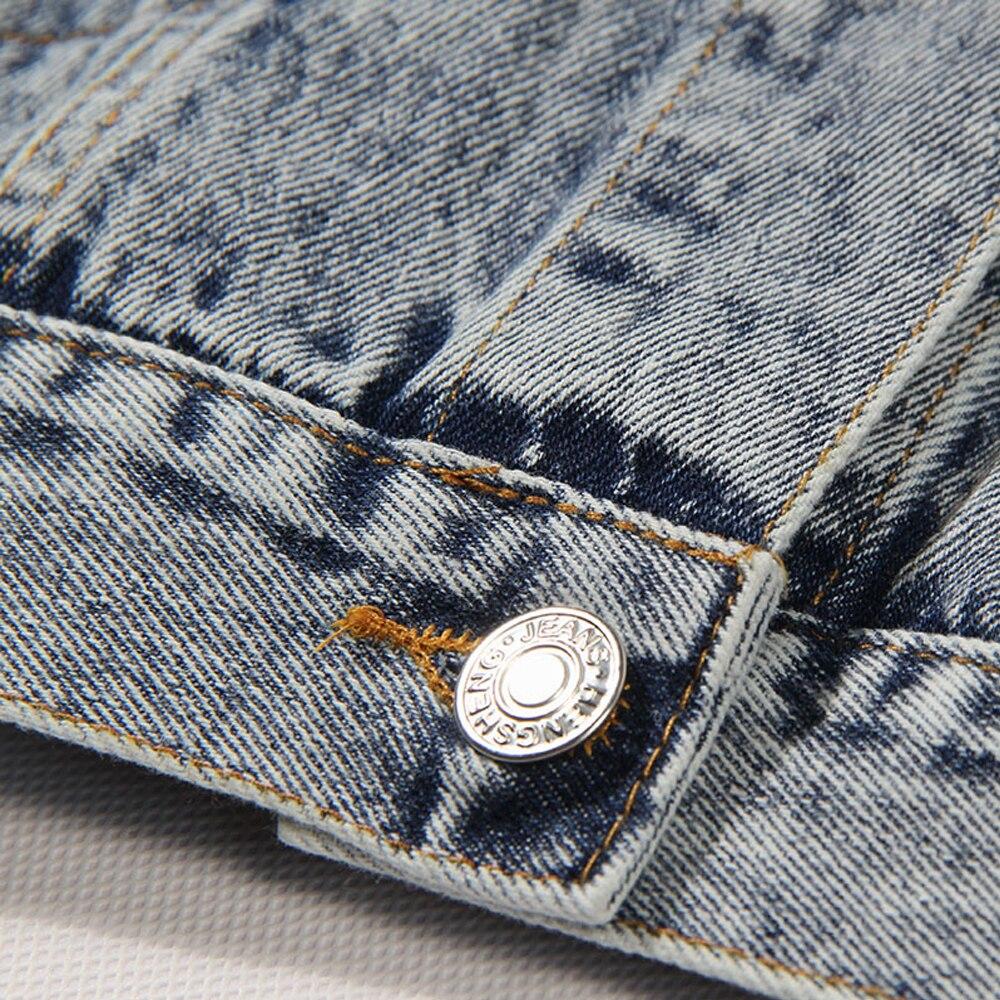 Croix Nouvelle Bleu Manteau Mode À Denim 2018 Lxmsth Sequin Antumn Manches Vintage Printemps Court Veste Streetwear Longues Jeans Femmes Harajuku tTqxH6I