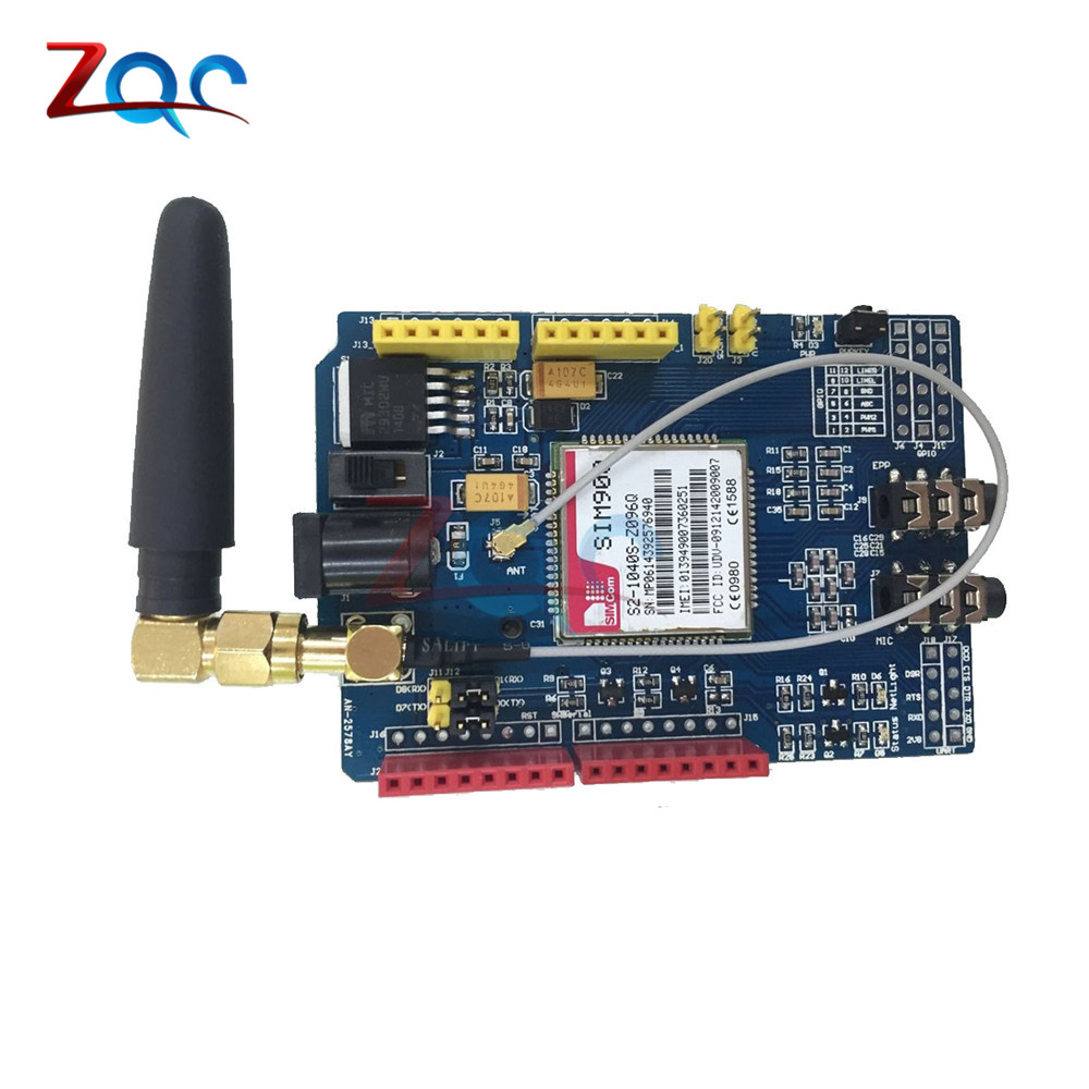 SIM900 GPRS/GSM Shield Development Board Quad-Band Module for arduino Compatible with UNO MEGA 2560 850/900/1800/1900 MHz