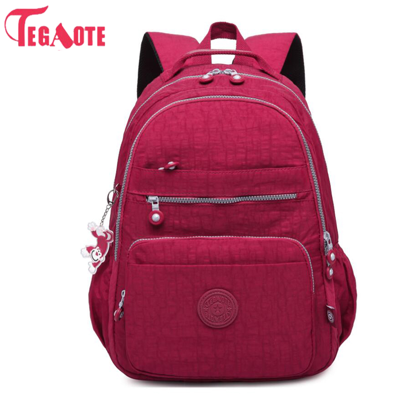 TEGAOTE School Backpack Teenage Girl Nylon Waterproof Casual Women Backpacks Mochila Feminina Laptop Bagpack Female Sac A Dos tegaote nylon waterproof school backpack for girls feminina mochila mujer backpack female casual multifunction women laptop bag