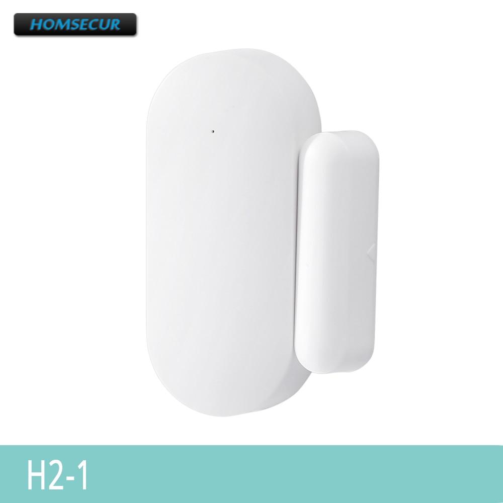 HOMSECUR 433MHz Wireless Door/Window Sensor H2-1 For Home Alarm Security System LA01,LA02,LA02-3G And LA03-3G