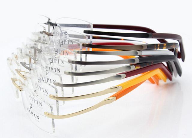 Gafas de marca marco b-titanium masculino deporte marco de anteojos sin montura gafas miopía prescripción gafas de sol femenino
