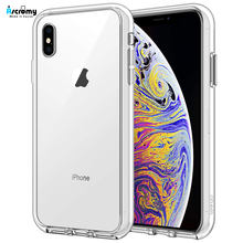 Ascromy para Apple iPhone XS funda TPU silicona híbrida transparente PC contraportada para iPhone X XS Max XR 7 8 6 6S Plus 5 5S SE Accesorios(China)