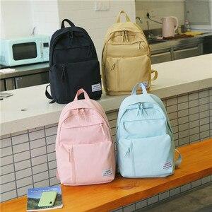 Image 4 - Mochila de nailon a la moda para mujeres, Mochilas escolares para adolescentes, mochila para estudiantes de estilo pijo, mochila femenina, Mochilas femeninas
