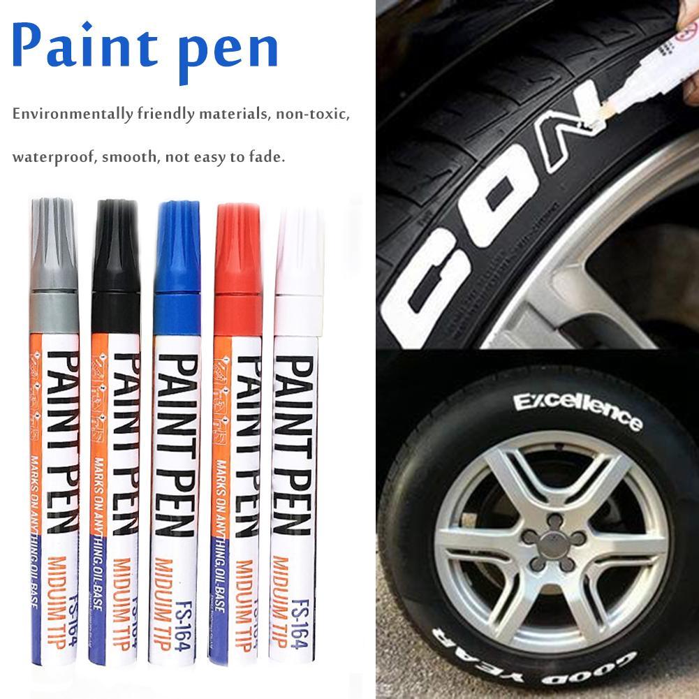 Car Paint Pen Care Car Wheel Tire Oily Mark Pen Auto Rubber Tyre Tread Metal Permanent Paint Marker Paint Pen Waterproof