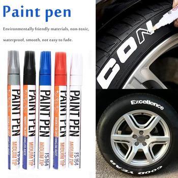 Waterproof Car Paint Pen Care Car Wheel Tire Oily Mark Pen Auto Rubber Tyre Tread Metal Permanent Paint Marker Paint Pen