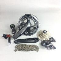 ไม่มีเบรกไม่มีกะ/จำแลง!!! R8000 UltegraจักรยานถนนGroupset 165/170/172.5/175มิลลิเมตร50-34 53-39จักรยานกลุ่มชุด2*11ความ