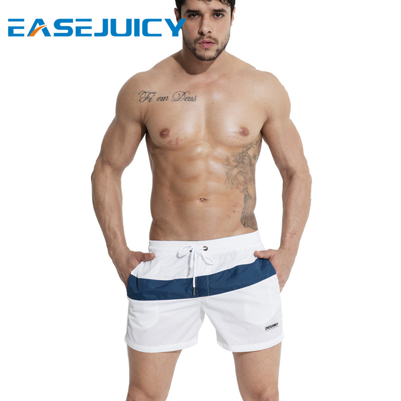 Men's swimming suit quick dry swimsuit   board     shorts   joggers bathing suit beach   shorts   drawstring hawaiian bermudas briefs