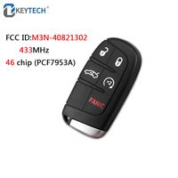 OkeyTech Smart Remote Key 433MHz 46 Chip M3N 40821302 Fob 5 Buttons for Chrysler Dodge Charger Journey Challenger Durango 300