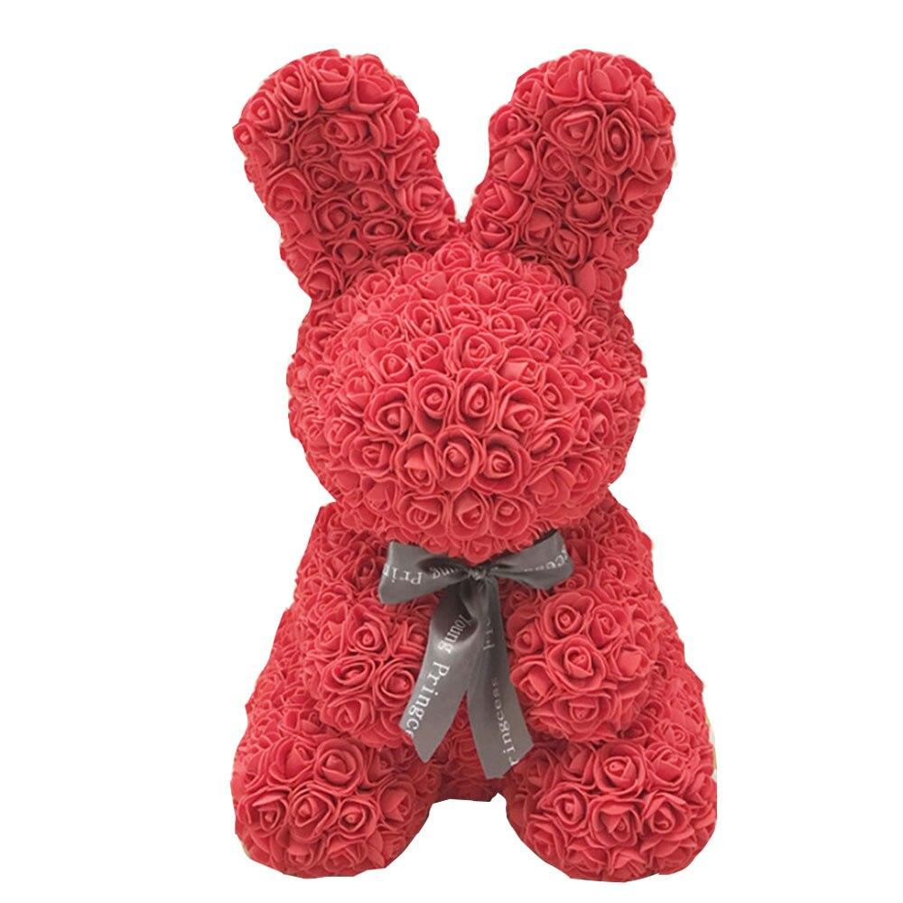 Свадебные украшения Роза кролик пена медведь DIY искусственный цветок розы Медведь ремесло пены шары подарок на день Святого Валентина свадебные принадлежности - Цвет: Red