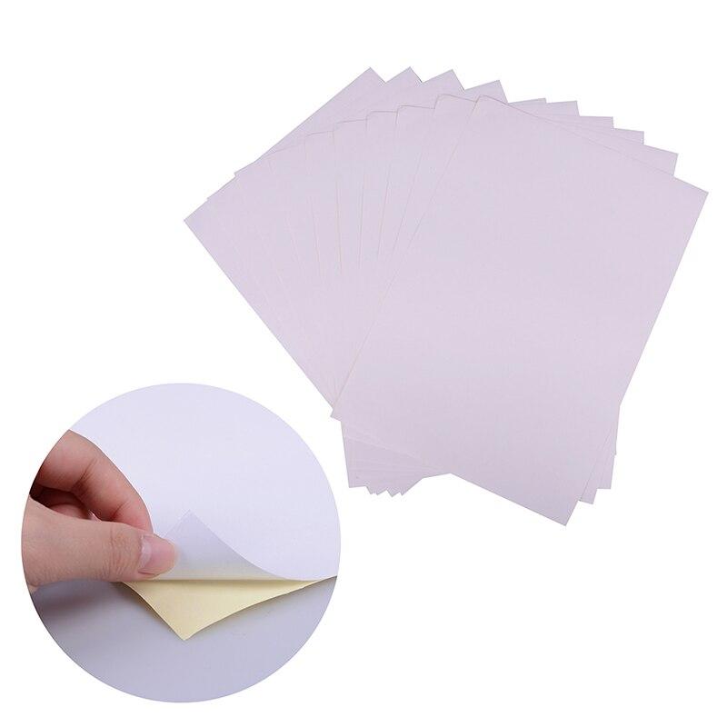 10 шт./компл. A4 матовый печати белые самоклеющиеся бумажные ссылку для офиса