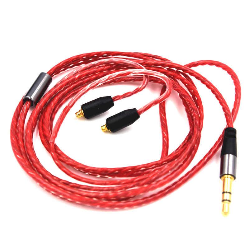 Sztuk C14 drutu w ucho słuchawki dla irock shure SE215 se535 słuchawki zestaw słuchawkowy kabel uaktualnienie dla senfer XBA DT6