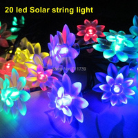 5set 20 Led String Lights Lighting Strings Solar Led Lights Decoration Outdoor Lighting Patio Fairy Party