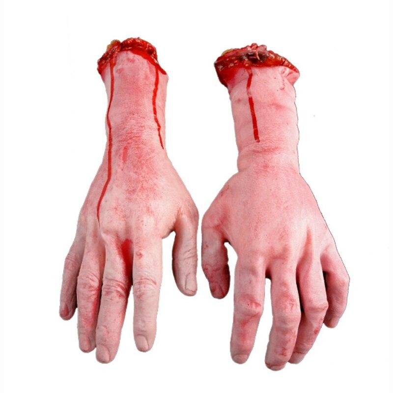 Хэллоуин Необычные игрушки и приколы Игрушки-приколы кошмарный крови руки липкие реквизит партия реквизит игрушка