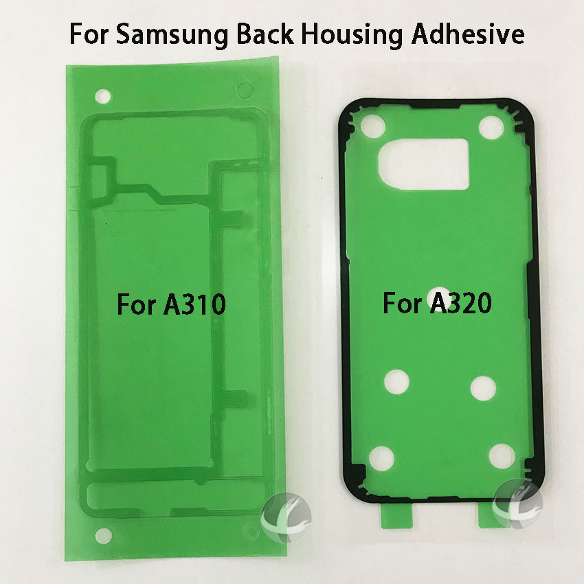 5pcs / Lot Battery Cover Sticker For Samsung Galaxy A3 2016 A310 2017 A320 A5 A510 A520 A530 A7 A710 A720 Back Adhesive