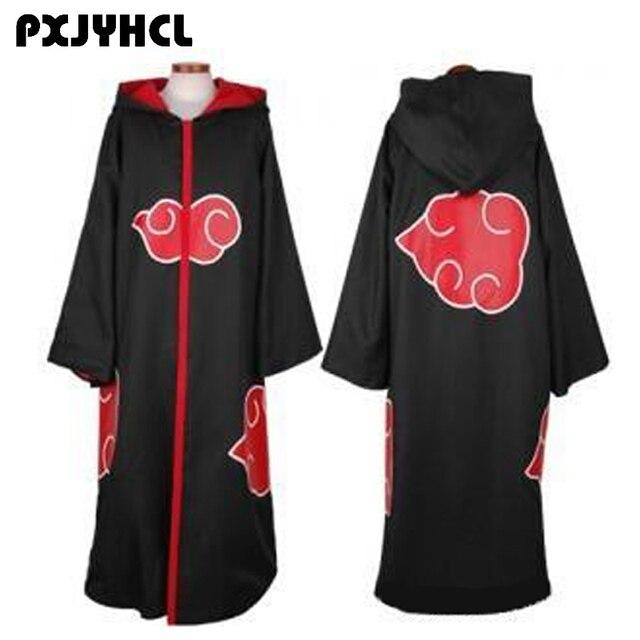 Halloween Adult Naruto Akatsuki Cloak Hoodie Uchiha Itachi Anime Cosplay Costume For Women Men Christmas Party Costumes