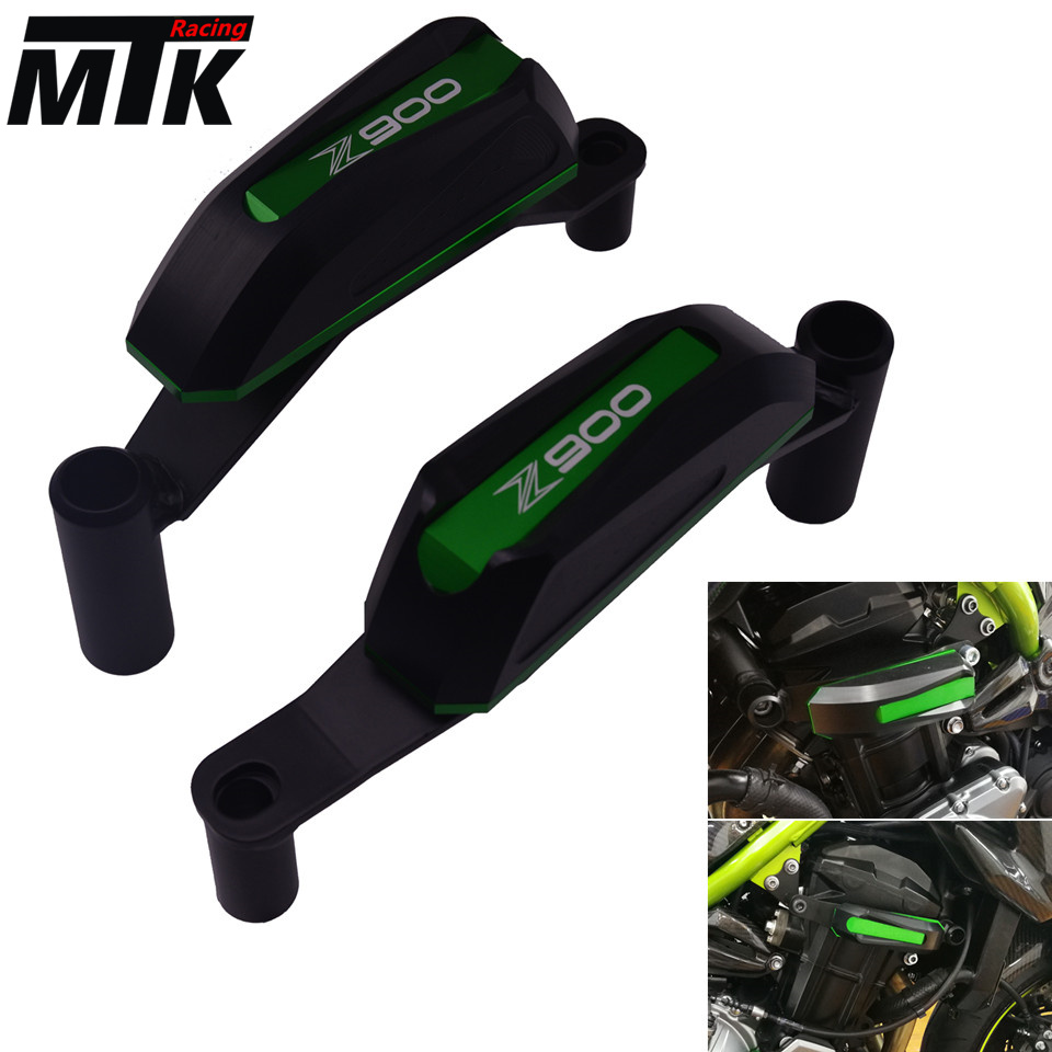 MTKRACING For Kawasaki Z900 2017 Motorcycle Engine Cover Crash Pads Frame Protector Slider cnc engine cover crash frame protector slider for kawasaki z900 z 900 2016 2017 motorcycle parts accessories aluminum anodized