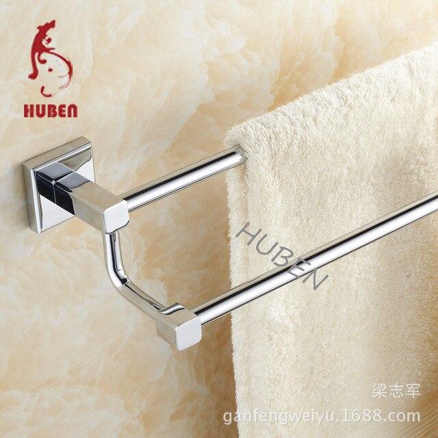 Tiger Ben bathroom full copper thick towel bar single pole double pole bathroom shelf towel hanging horizontal bar parallel bars
