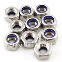 Lot50 Metric M8 304 Stainless Steel Hex Head Nylon Insert Lock Jam Stop Nuts
