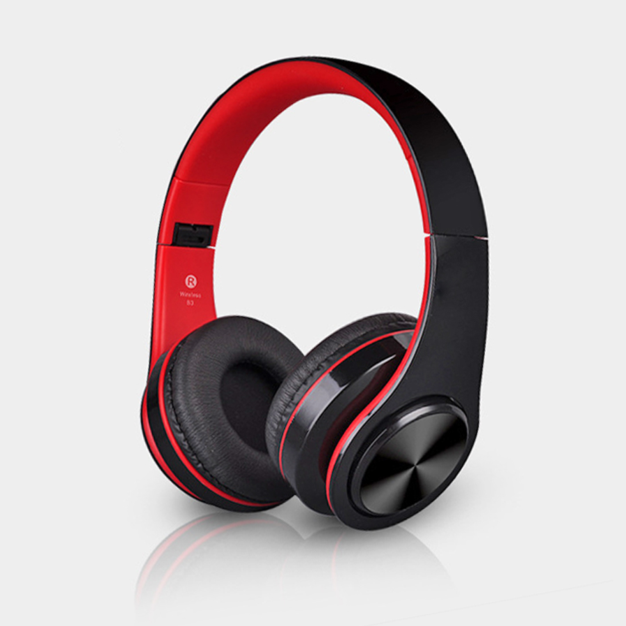 Headphones Bluetooth Headset Wireless Stereo Foldable Sport Earphone Microphone Headset For iPhone Samsung Phones Handfree MP3 headphones blutooth 4 1 wireless foldable sport earphone microphone headset with tf card slot mp3 player music earphone earpiece