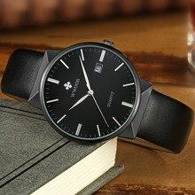 Top Brand Luxury Men Leather Waterproof Sports Watches Men's Quartz Casual Wrist Watch Male Black Clock WWOOR relogio masculino