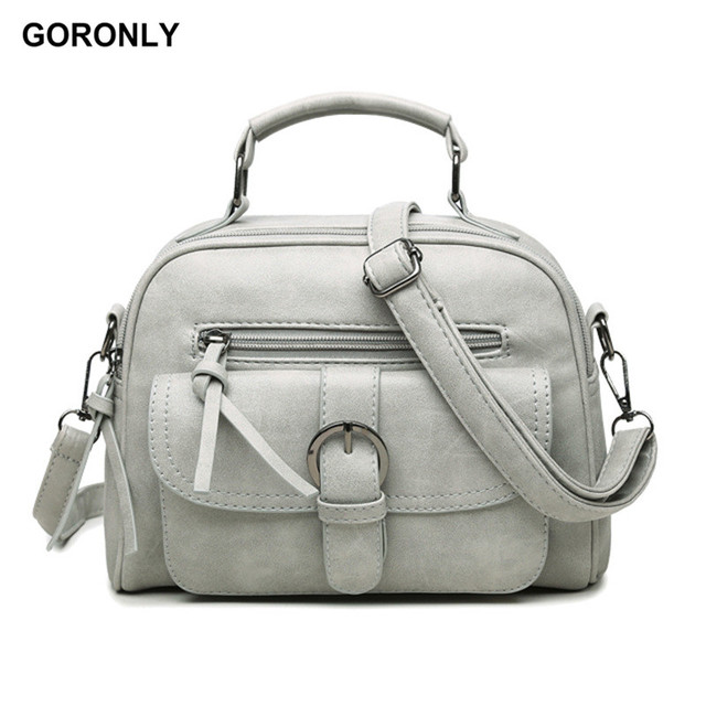 GORONLY Brand Fashion Leather Handbag Women Vintage Floral Shoulder Bag  Female Designer Crossbody Bags Ladies High Quality Totes 97e472f370878
