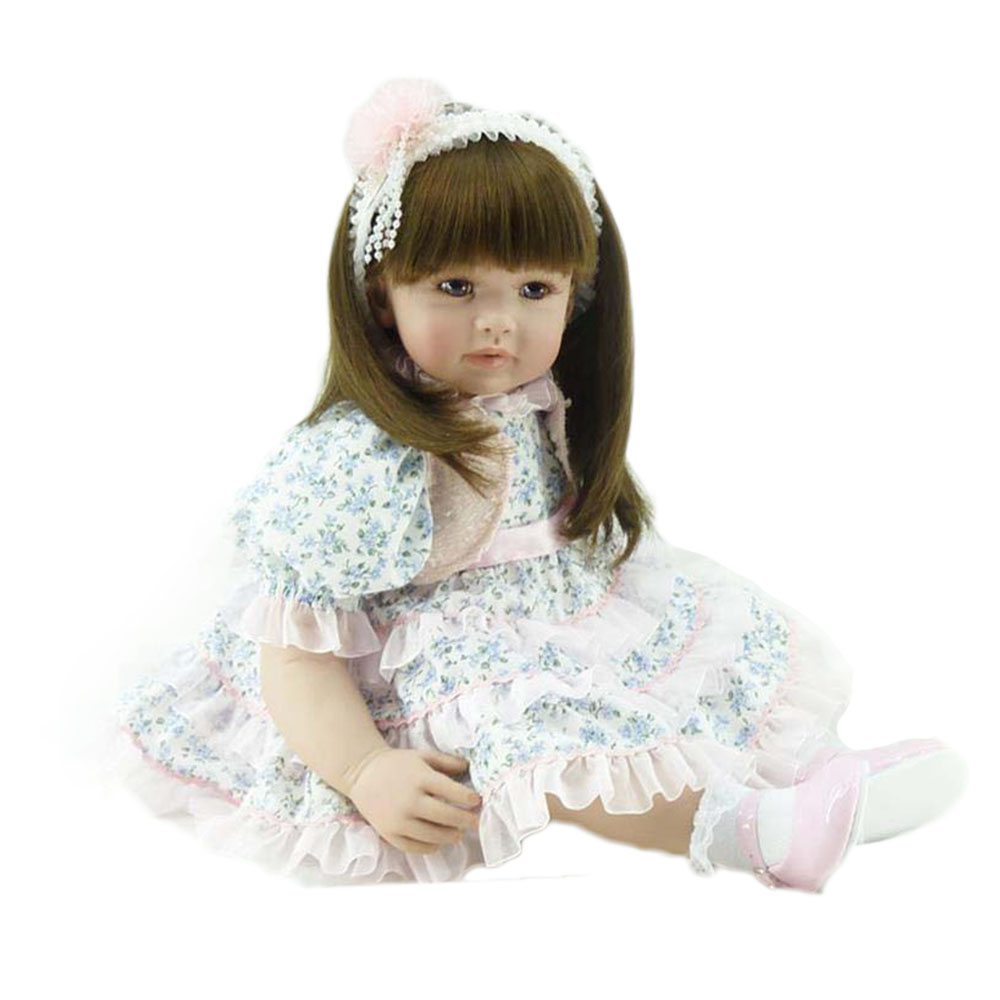 22 Real Baby Doll Handmade Cotton Body Babies Dolls Alive Silicone Reborn Baby Princess Doll Best Playmate Gifts Toys for Girls соковыжималка центробежная scarlett sc je50s25