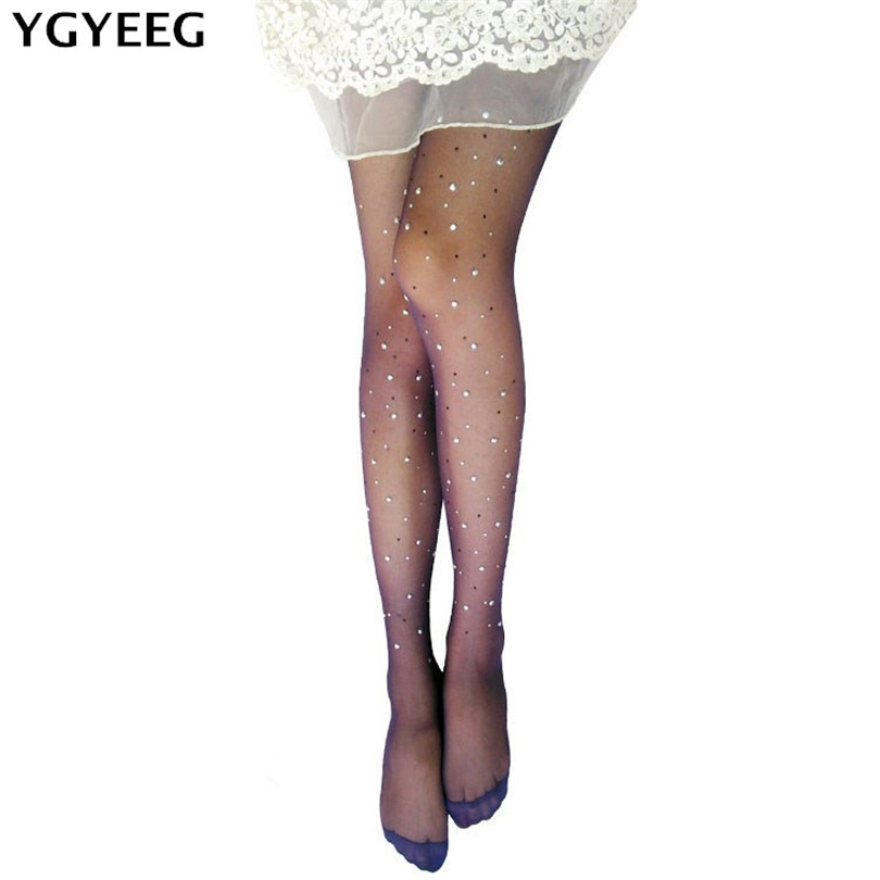 73e8fba477c Detail Feedback Questions about YGYEEG 2019 HOT New Shine Crystal Fishnet  Tights Pantyhose Stockings For Women Multi Color Diamonds Fish Net Tights  Plus ...