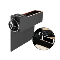 Bag Chair Car Pocket Organizer with Cup Holder 4 USB Charger Caddy Coin Phone Storage Car Seat Gap Filler Pocket Storage Stowing