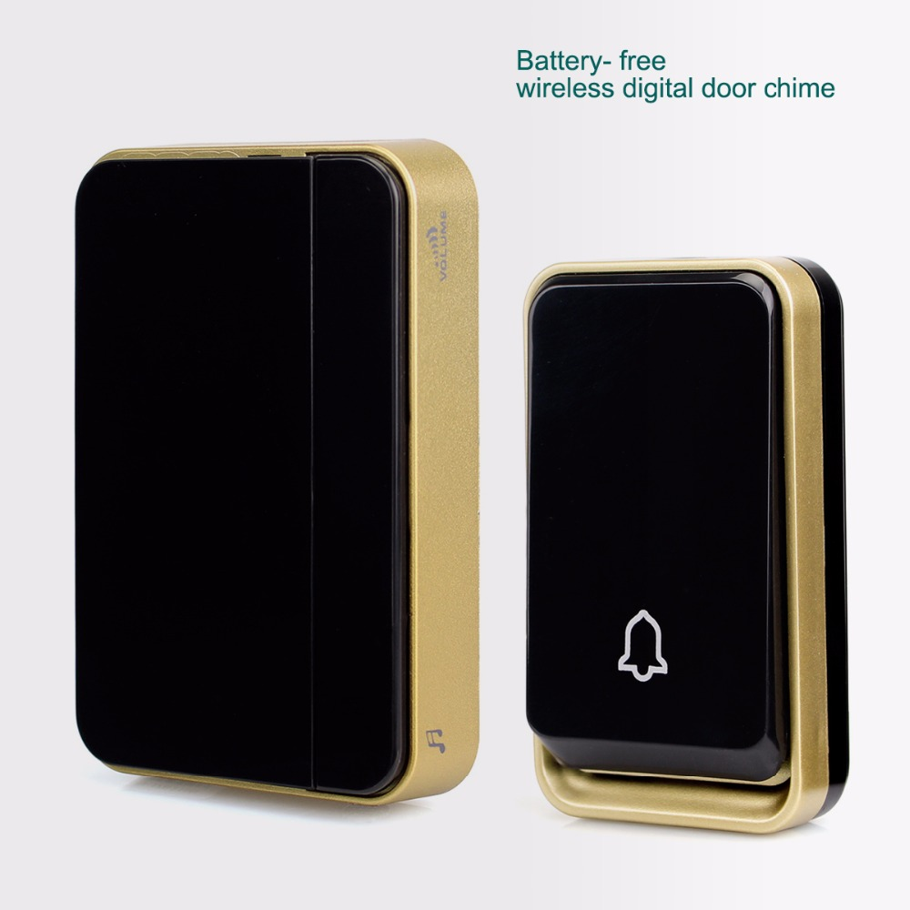 Battery Free Wireless doorbell Digital Door Chime 51 Melody Ac/dc Wireless Door Bell F1759A long distance 2v2 433mhz wireless welcom chime digital ac doorbell
