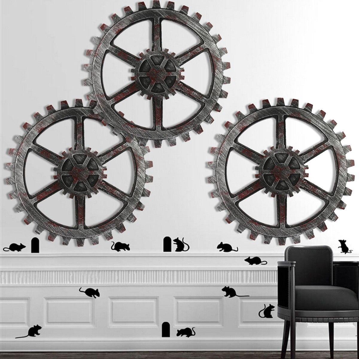 Kiwarm 1 шт. 42 см Винтаж Ретро промышленные ретро деревянные Шестерни Книги по искусству кафе-бар Настенный декор украшения дома поставки
