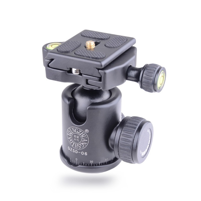 QZSD-06-Aluminum-Camera-Tripod-Ball-Head-Ballhead-Quick-Release-Plate-Pro-Camera-Tripod