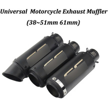 Universal 51mm 61mm S-C Racing Project Laser Motorcycle Escape Modified Muffler For CBR600 Z750 Z900 Tmax500 CBR1000