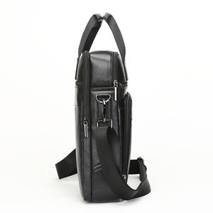 Image 5 - MEIGARDASS Genuine Leather Business Briefcase Men Travel Shoulder Messenger Bags Male Document Handbags Laptop Computer Bag