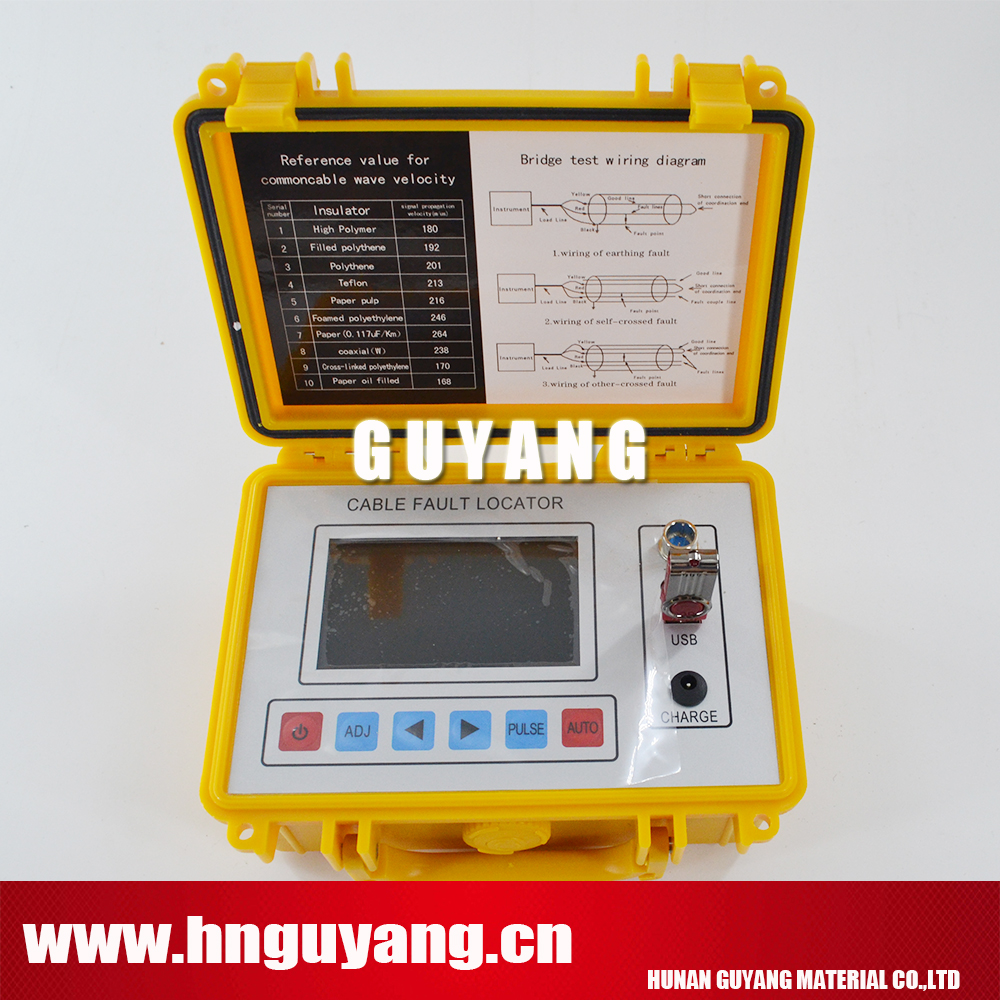 GY800 Intelligent Cable Fault Locator portable field instrument working on TDR and bridge methodsGY800 Intelligent Cable Fault Locator portable field instrument working on TDR and bridge methods