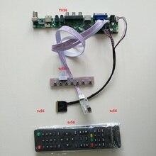 """ل 15.6 """"LTN156AT02 VGA LED USB الصوت التلفزيون HDMI سائق تحكم مجلس عرض 1366*768 AV شاشة لوحة إل سي دي"""