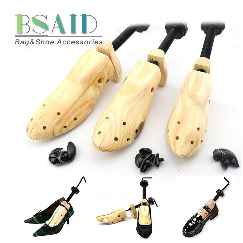 BSAID 1 Piece Shoe Stretcher Shoes Tree Shaper Rack, Adjustable Wooden Pumps Boots Expander Trees Size S/M/L Women And Man women plastic spring shoe tree stretcher holder shaper support