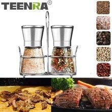 TEENRA ручная мельница для перца, шлифовальная машина из нержавеющей стали для соли, мельница для перца, мельница для специй, измельчитель, кухонные гаджеты