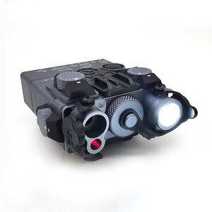 Image 2 - An/PEQ 15A 원격 스위치 전술 사냥 소총 airsoft 배터리 상자와 레드 레이저/led 빛