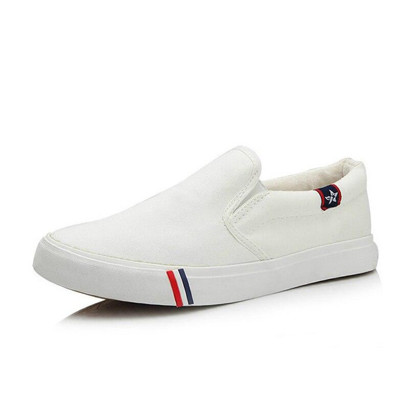 2018 Neue Männer Vulkanisieren Schuhe Mann Mode Turnschuhe Freizeit Plattform Wohnungen Student Atmungs Weiß Einzelnen Schuhe England Stil