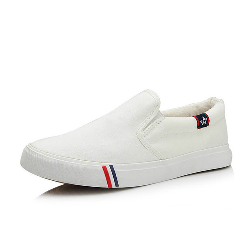 2018 new men vulcanize shoes man fashion sneakers leisure platform flats student breathable white single shoes england style