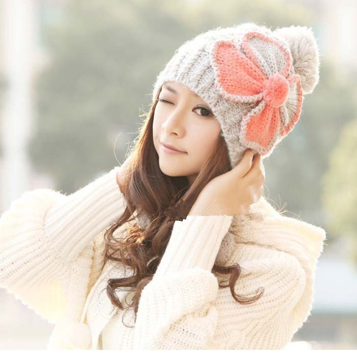 Winter   Beanies   Knit Women's Hat Winter Hats For Women Ladies   Beanie   Girls   Skullies   Caps Wool Warm Hat 2018