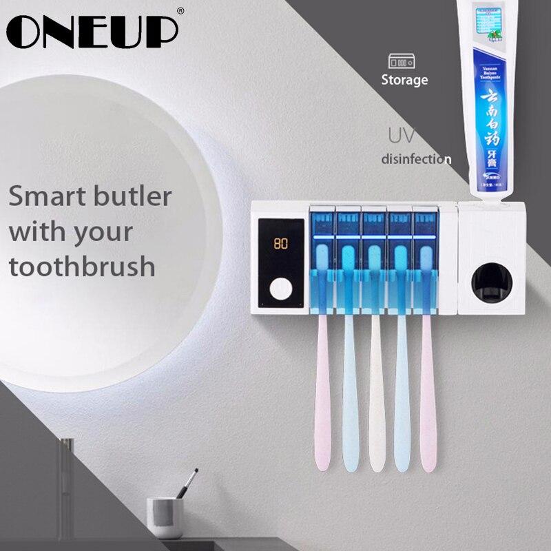 ONEUP UV Brosse À Dents Stérilisation Efficace porte-brosse à dents Automatique Dentifrice Multi-Fonction porte-brosse à dents Salle De Bains Ensemble