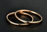 AU750 Rose gold Smooth Band Ring US SIZE 5