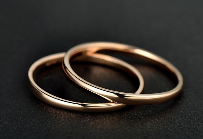 AU750 oro Rosa Liscio Band Ring FORMATO DEGLI STATI UNITI 5AU750 oro Rosa Liscio Band Ring FORMATO DEGLI STATI UNITI 5