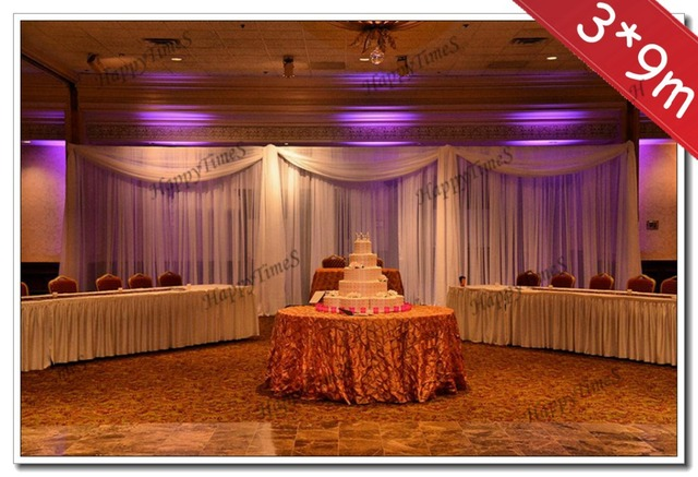 3 9m big size wedding decoration background curtain backdrop