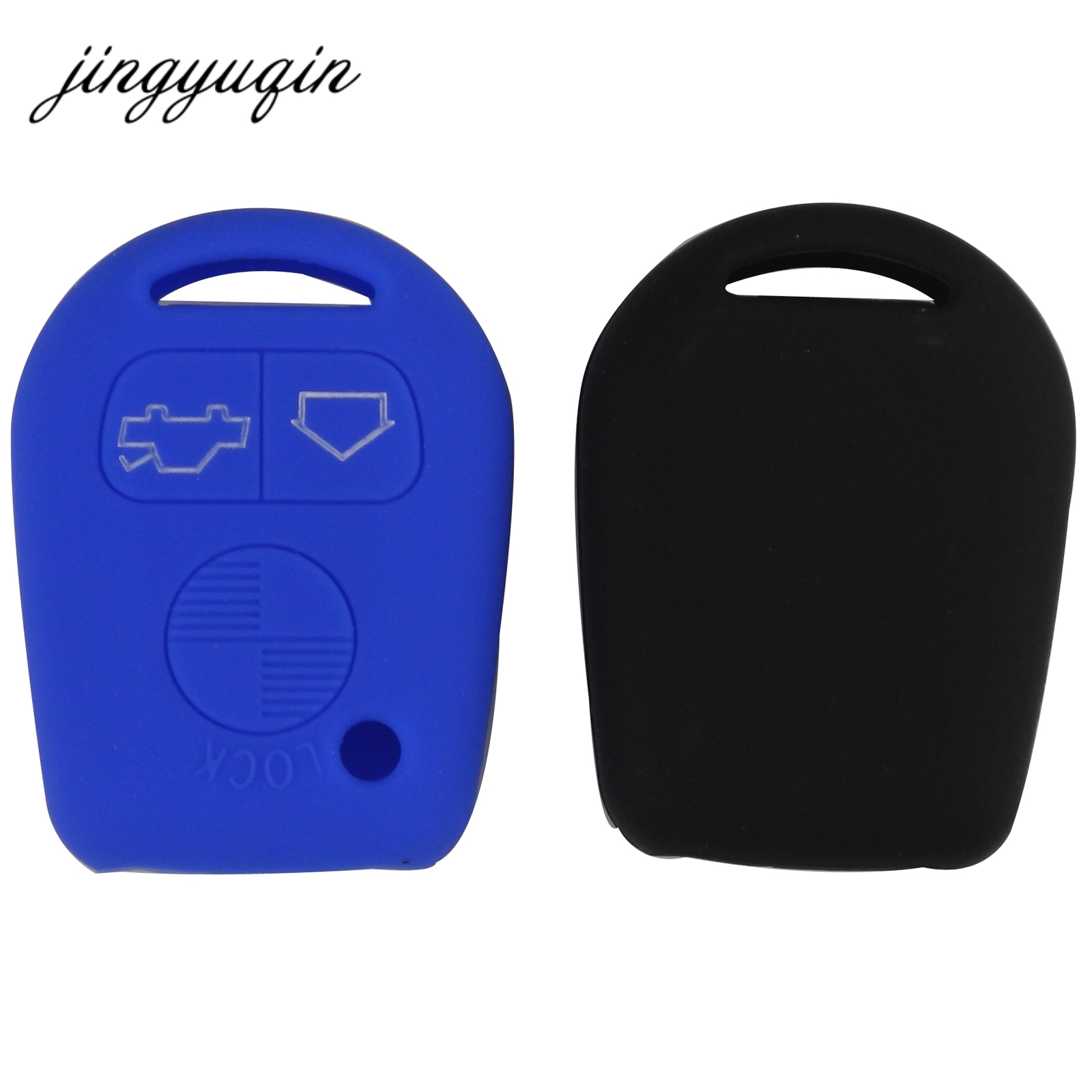 Jingyuqin Silicone Key Case For BMW E31 E32 E34 E36 E38 E39 E46 Z3 3Button Straight Remote Car Key Cover Protecor