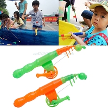 1pc Magnetic Fishing Game Toy Rod Hook Catch Kids Children Bath Time Gift Selling