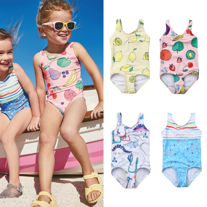 Summer Toddler Girl Clothes Newborn Baby One-Piece Swimsuit Bandage Swimwear Swimming Bikini Bathing Suit Cute 2019(China)