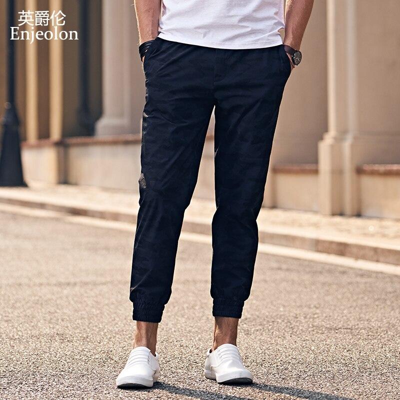1ff8332b6a7a71c Enjeolon бренд синий камуфляжные тренировочные брюки мужские длинные штаны  высокого качества Штаны мужчин Модная Повседневная одежда